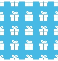 Gift box straight pattern vector
