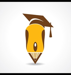 Education concept with graduation cap and computer vector