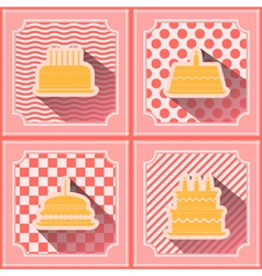 Seamless background with birthday cake vector