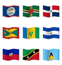 Waving flags of different countries 10 vector
