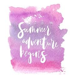 Motivation poster summer adventure begins vector