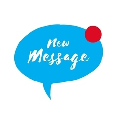 Incoming message icon new message speech bubble vector