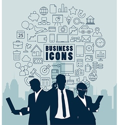 Silhouette people for business concept vector