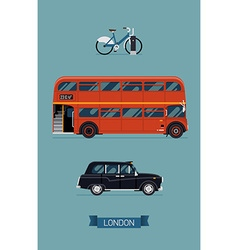 London public transport icon set vector