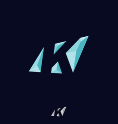 abstract letter k vector image vector image
