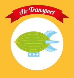 Air transport design vector