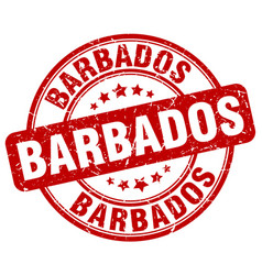 Barbados stamp vector