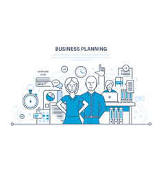 Business planning process job management vector