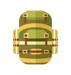 Camping and travel backpack icon vector