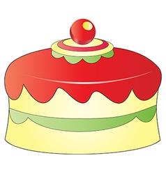Christmas cake vector
