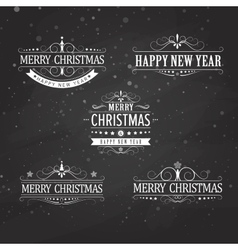 Christmas title vector image