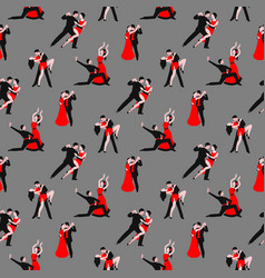 couples dancing tango latin american romantic boy vector image