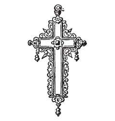Cross created by a german craftsman vintage vector
