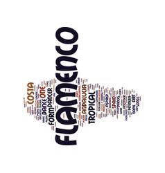 Flamenco in costa tropical andalucia text vector