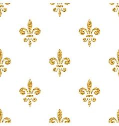 Golden fleur-de-lis seamless pattern white 3 vector