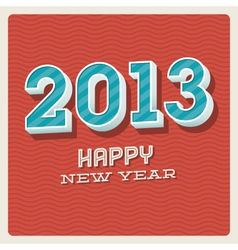 Happy new year 2013 typographic card vector image vector image