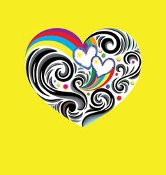 Heart love rainbow vector