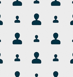 male silhouette icon sign Seamless pattern with vector image vector image