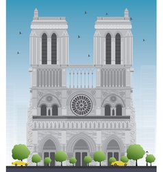 Notre dame cathedral vector