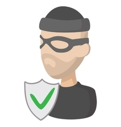 Of crime insurance icon cartoon style vector