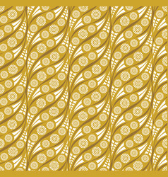 Oriental wave pattern abstract floral ornament vector