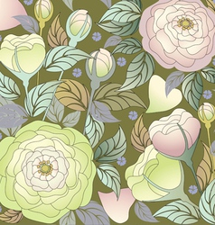 pattern roses1 vector image vector image