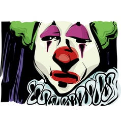 sad clown drawing vector image vector image