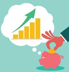 Saving for money grow vector image vector image