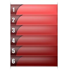 Six Options Vertical Red Template vector image vector image