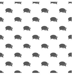 speech bubbles pattern seamless vector image vector image
