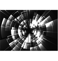 Technological black and white radar light effect vector