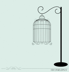 Vintage birdcages vector