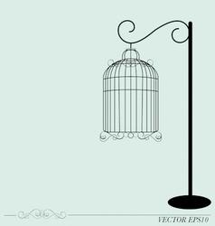 Vintage birdcages vector image