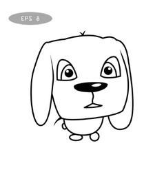 Cute dog character vector