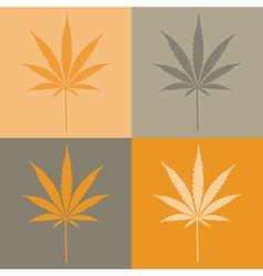 Marijuana leaves vector