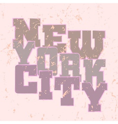 T shirt typography graphics new york style vector