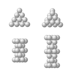 The dense packing of spheres of equal size vector