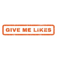 Give me likes rubber stamp vector