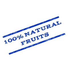 100 percent natural fruits watermark stamp vector