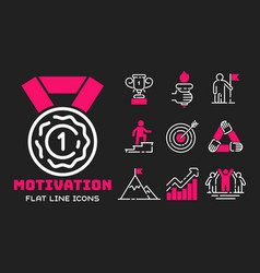 Motivation concept chart pink icon business vector