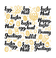 Easter egg hand drawn lettering vector