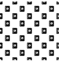 Address book pattern vector