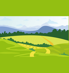 green landscape background vector image