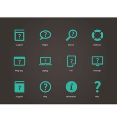 Help and faq icons vector