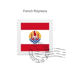 French polynesia flag postage stamp vector