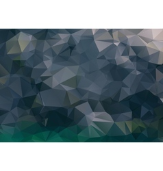 Dark abstract background polygon vector image