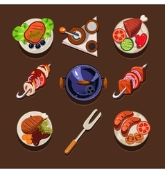 BBQ Grill Icon vector image