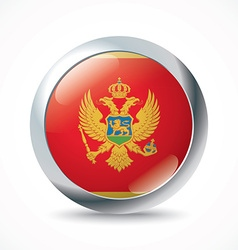 Montenegro flag button vector