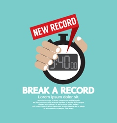 Break a record vector