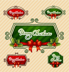 Merry christmas creative label vector